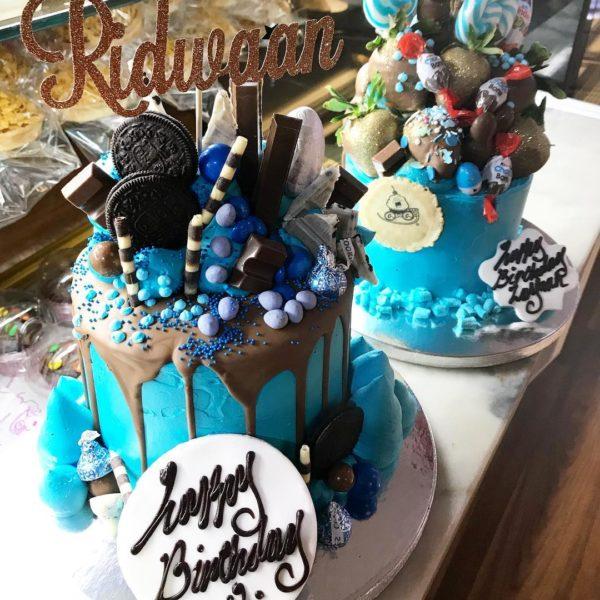 Blue B Day Cake